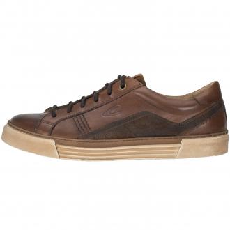 Sneaker aus Glattleder in Kombination mit Velours braun_01 | 45
