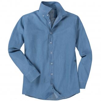 Vielseitiges Freizeithemd in Jeans-Optik blau_100 | XXL