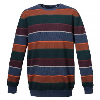 Strick-Pullover in Blocking-Colour-Optik blau/grün_135/4060   3XL