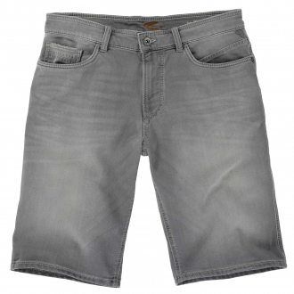 Sportliche Jeans-Short in verwaschener Optik hellgrau_070 | 35