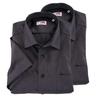 TOPPREIS: Doppelpack Hemden kurzarm anthrazit_76 | XXL