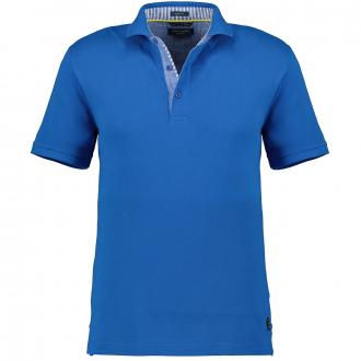 Pique-Poloshirt mit Kontrastdetails, kurzarm royalblau_3210 | 3XL
