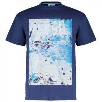 "T-Shirt mit Print ""Beachlife"" blau_858   3XL"