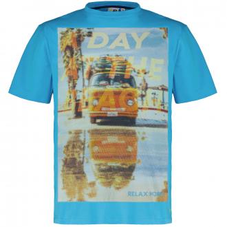 """T-Shirt mit Maxi-Print """"Relax"""" türkis_610   3XL"""