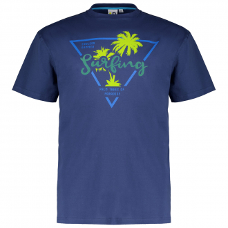 """T-Shirt mit Flockprint """"Surfing"""" blau_858   3XL"""