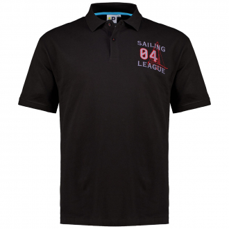 """Poloshirt """"League"""" mit Stickerei, kurzarm schwarz_700   3XL"""