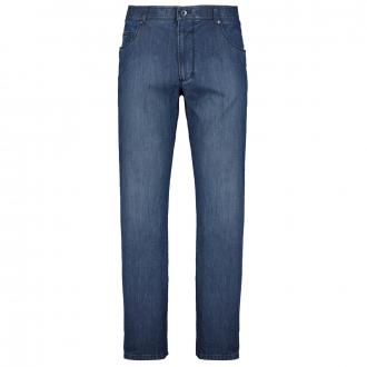 Leichte Stretch-Jeans mit dezenter Waschung mittelblau_26   29