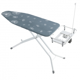 Extra-breites Bügelbrett, Dampfbügelstation geeignet grau_30 | One Size