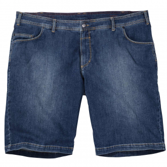 Bequeme Jeans-Short mit Stretch mittelblau_26 | 38