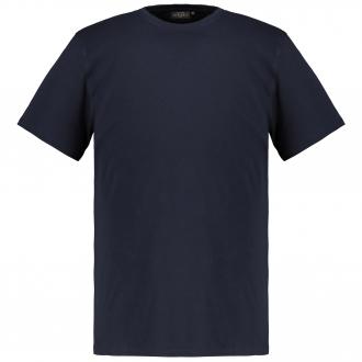 Basic-T-Shirt mit Rundhalsausschnitt dunkelblau_210 | 3XL