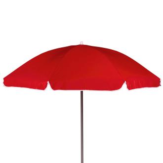 Sonnenschirm mit Knickarm, 200 cm Durchmesser rot_50 | One Size