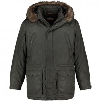 Bequeme Winterjacke mit abnehmbarer Kapuze grau_1100 | 60