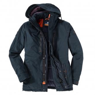 Stilvolle Winterjacke mit verschiedenen Taschen dunkelblau_0800 | 40
