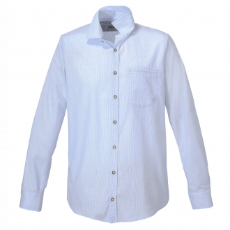 Baumwoll-Trachtenhemd, langarm hellblau_160 | 3XL