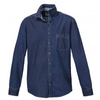 Freizeithemd aus Baumwolle, langarm dunkelblau_120/400   3XL