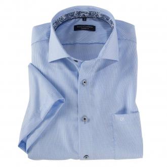 Bügelfreies City-Hemd, kurzarm blau_100 | 3XL