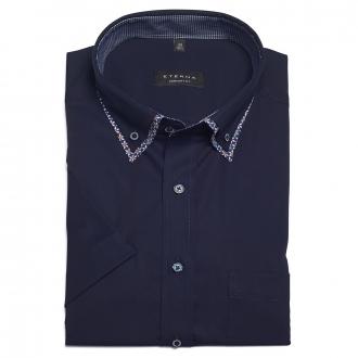 Klassisches Cityhemd mit trendigem Doppelkragen, kurzarm dunkelblau_62/400   46