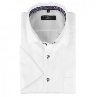 Businesshemd strukturiert und bügelfrei, kurzarm weiß/weiß_000 | 46