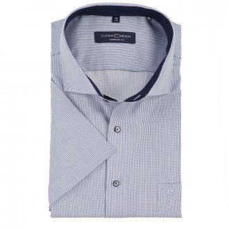 Businesshemd bügelfrei, kurzarm blau/weiß_101/4020 | 46
