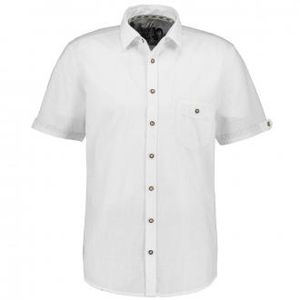 Schlichtes Trachtenhemd, kurzarm weiß_900   XXL