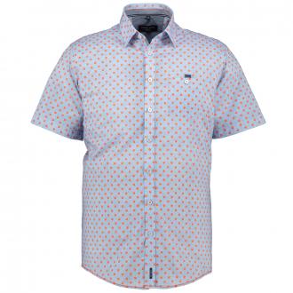 Gepunktetes Freizeithemd, kurzarm hellblau_450/42 | XXL