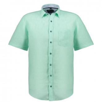 Legeres, leichtes Leinen-Freizeithemd, kurzarm grün_301 | 3XL