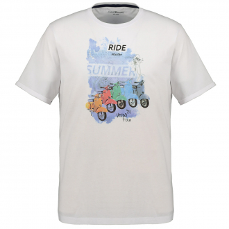 T-Shirt mit buntem Vespa-Print weiß/weiß_000 | 5XL