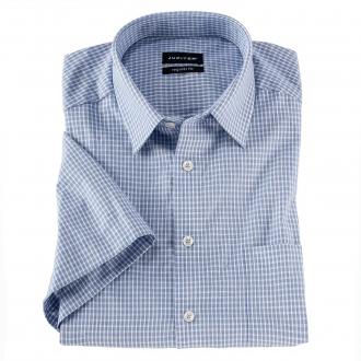 Cityhemd mit kurzem Arm im Karodesign blau/weiß_155/4020 | XXL