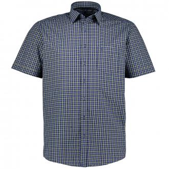 Kariertes Freizeithemd, kurzarm blau_100 | XXL