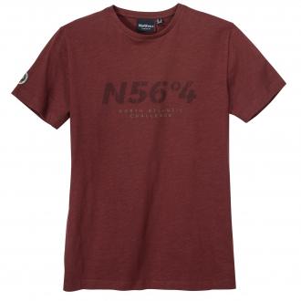 "T-Shirt mit ""N56°4"" Print dunkelrot_360 | 3XL"