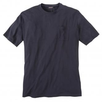 Basic T-Shirt mit Brusttasche dunkelblau_01   3XL