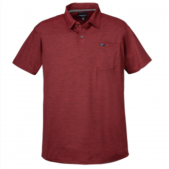 Meliertes Poloshirt mit Funktion, kurzarm weinrot_370 | 8XL