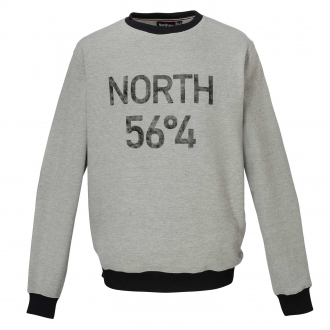 Sweatshirt in feiner Rippen-Optik hellgrau_050 | 6XL
