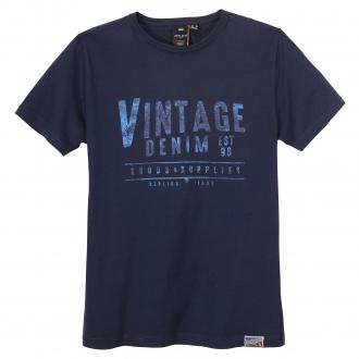 "T-Shirt mit ""Vintage Denim"" Print dunkelblau_580 | 3XL"