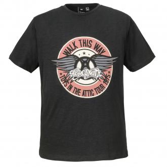 """T-Shirt mit """"Walk this Way"""" Print schwarz_099   3XL"""