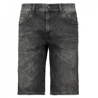 Jeansshort in Megaflex-Qualität mit auffälliger Waschung grau_120 | 31