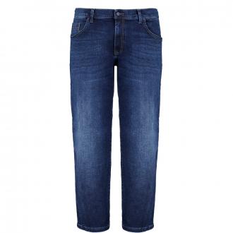 Stretch-Jeans mit Ziernähten dunkelblau_444 | 42/30
