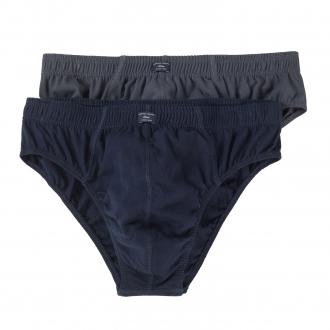 Bequemer Baumwoll-Slip, Doppelpack graublau_11A2 | 3XL