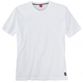 Basic T-Shirt aus Baumwolle weiß_0100 | 5XL