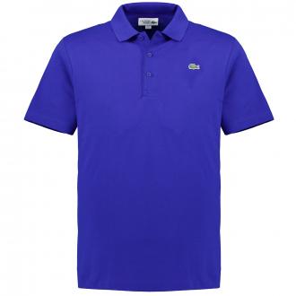 Klassisches Poloshirt aus elastischem Baumwoll-Mix, kurzarm mittelblau_CXK | 3XL