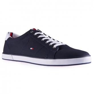Baumwoll-Sneaker mit Kontrasteinsatz dunkelblau_403 | 43