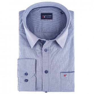 Langarm Cityhemd mit dezentem Minimal-Print marine_135 | XXL