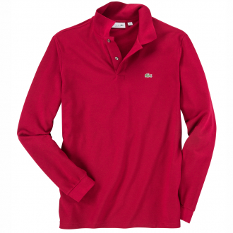 Langarm-Poloshirt aus hochwertigem Baumwoll-Piqué karmin_476 | 3XL