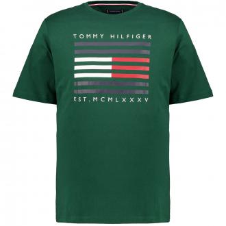 "T-Shirt mit Frontprint ""Tommy Hilfiger"" dunkelgrün_MBP | 4XL"