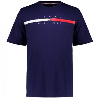 T-Shirt aus Biobaumwolle mit Print dunkelblau_DY4   3XL
