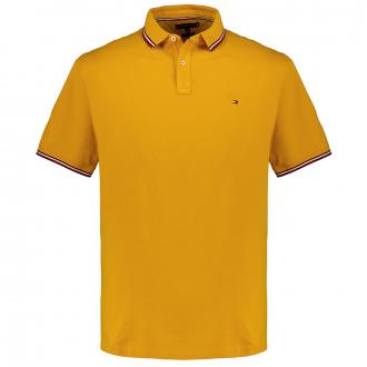 Poloshirt mit Zierstreifen aus Bio Baumwoll-Piqué gelb_ZP7 | 3XL