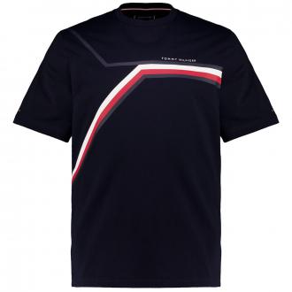 T-Shirt aus Biobaumwolle mit graphischem Print marine_DW5 | 4XL