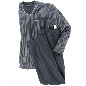 Langer Schlafanzug dunkelblau_360 | 3XL