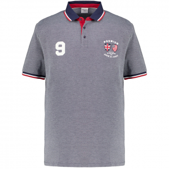 Weiches Piqué-Poloshirt mit Kontrastdetails, kurzarm marine_NAVY | 3XL