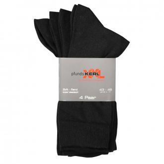 4-er Pack Socken, atmungsaktives Baumwollgemisch schwarz_190 | 47-50